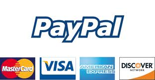 PayPal accepts Mastercard, Visa, Discover and American Express